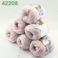 Sale New Yarn Soft Worsted Cotton Chunky Shawl Scarf Hand Knitting 6x50gr 208