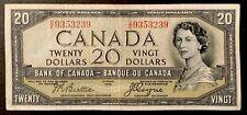 1954 - Twenty Dollar Canadian Banknote - 20$ Bank Of Canada Devil Face
