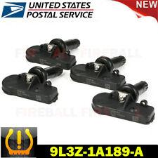 Set of 4 Genuine For Ford Motorcraft Tire Pressure Sensor TPMS OEM DE8T-1A180-AA