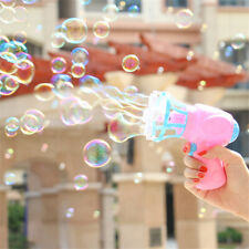 Electric Handheld Bubble Blower Gun Outdoor Soap Blow Water Fun Kids Child Toys