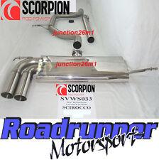 Scorpion svws 033 Scirocco 2.0 TDI Gato Sistema de escape de acero no-res posterior