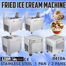 Commercial Fried Ice Cream Machine 16-22 L/H Frozen Yogurt Roller Commercial