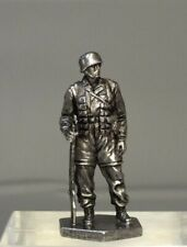 Tin Toy Soldier Assembled Unpainted German parachuter 54mm 1/32 miniature