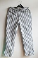 BNWT Ps Paul Smith White Womens Striped Cotton Trousers Size 38 UK 10