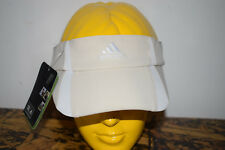NWT Women's  Adidas  Climacool ecru w/ white trim  Visor  Hat adults