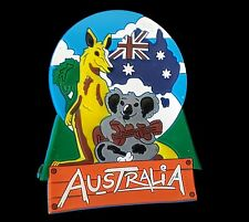 Australia Souvenir Rubber Fridge Magnet Flag Wildlife Animals Koala Kangaroo