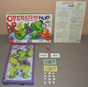 OPERATION Hulk board game - Hasbro 2008 - COMPLETE green eyes & growl