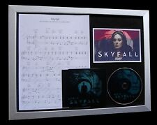 ADELE Skyfall+James Bond LTD CD MUSIC TOP QUALITY FRAMED DISPLAY+FAST WORLD SHIP