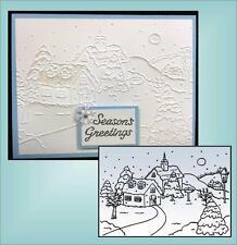Village #1 Folder - Nellie Snellen embossing Folders PIF001 Christmas Holidays