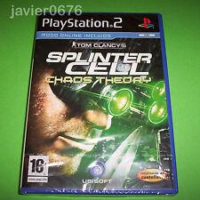SPLINTER CELL CHAOS THEORY NUEVO Y PRECINTADO PAL ESPAÑA PLAYSTATION 2