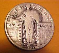 1929-P Standing Quarter ~Gem Circulated ~2nd to last year ~Silver ☆Make A Offer☆