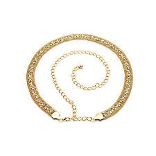Women Ladies Waist Belt Gold Metal Chain Rhinestone Diamante Diamond Fashion 445