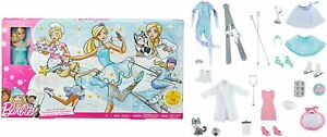 Barbie FGD01 Adventskalender mit  Puppe Mädchen Mattel Accessoires Kleider