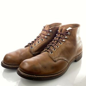 RED WING Men's Prison Boots 14 D Brown Leather Vintage Speed Hooks Made in USA