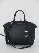 Michael Kors Riley Black Large Satchel Shoulder Handbag Handbag Purse