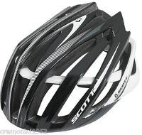 SCOTT casco bici bianco nero helmet bike mtb corsa white black ciclismo road