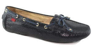 Leather Loafers Size 8 Navy Marc JosephMoccasin Flats Soft Leather Never worn