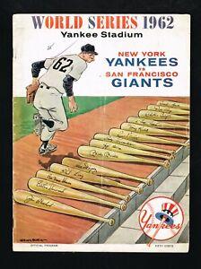 1962 World Series Baseball Program New York Yankees vs San Francisco Giants