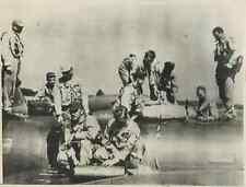 Japan, Atsugi, Crew membres of the U.S. Navy Neptune Patrol Bomber  Vintage .