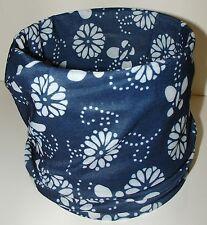 Blue White Paisley Tubular Multi Function Headwear Balaclava Beanie Scarf Cap