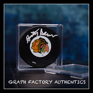 GFA Chicago Blackhawks SCOTTY BOWMAN Signed NHL Logo Puck MH1 COA