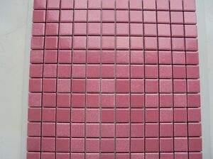 MOSAIC IN ORCHID PINK (ROSA 12) 30 x 30cm JOB LOT OF 10 SHEETS (HUGE PRICE DROP)
