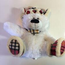 "White Winter Polar Bear Teddy Bear Scarf Hat And Boots Plush 12""  Stuffed Animal"
