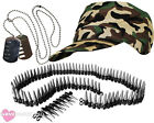 ARMY SOLDIER FANCY DRESS COSTUME ACCESSORIES LADIES MENS HEN STAG PICK ACCESSORY