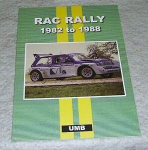RAC RALLY 1982 to 1988 MAGAZINE ARTICLE REPRINTS Unique Motor Books