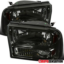 For 1999-2004 Ford F250 F350 2000-2004 Excursion Smoke 1PC Style Headlights Lamp
