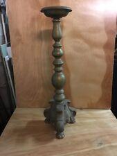 VTG CAST BRASS 20 1/2 Inch Candle Stick Holder/Lamp Base