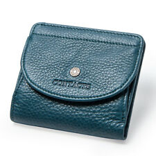 Women Genuine Leather Wallet UTRA Slim Card Holder Lady Soft Front Pouch Purse