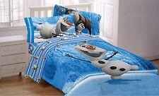DISNEY FROZEN movie dvd OLAF SNOWMAN Comforter BLANKET & Sheet set Full SIZE NEW