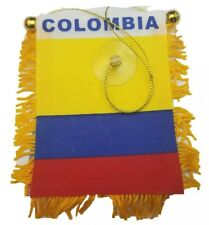 Colombia flag Mini banner rearview mirror window car Home Colombian pride