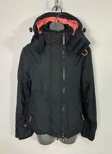 WOMENS SUPERDRY SIZE SMALL BLACK WINDCHEATER CASUAL LIGHT WEIGHT RAINCOAT JACKET