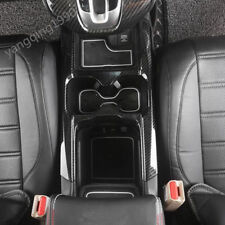 FOR HONDA CR-V CRV 2017 2018 Carbon fiber look Water Cup Holder Cover Trim