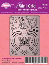 Pergamano Mini Grid No 18 Perforating Parchment Birds & Butterflies 71018