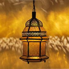 Orientale Lampada Marocchina Luce a sospensione Lanterna Plafoniera Msedes-ambra