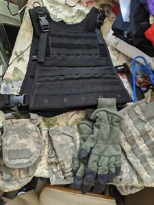 Condor Tactial vest Modular Molle Compatible w/ extras LOOK Black Camo lot DEAL
