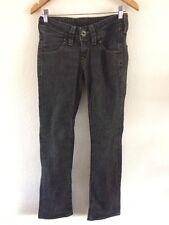 """Lee Hombres Jeans 27"""" Cintura 33"""" Pierna Negro Carbón < R9212"""