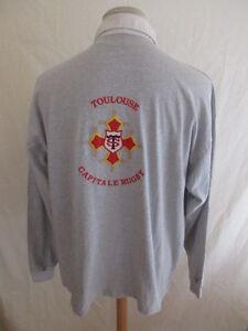 Polo Rugby Vintage Stade Toulousain Grey Size XL