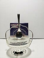 Queen Anne Fromagere Marmalade Jam Dish With Silver Spoon Mayell of England