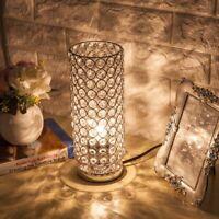 E26/E27 Modern Crystal Desk Lamp Table Light Elegant Bedside Home Decor EU US