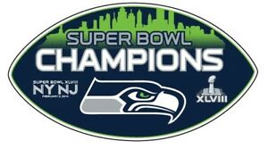 "Seattle Seahawks Super Bowl 48 Champion 12"" Football Magnet"