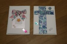 TWO NEW UNUSED HAND MADE HAND CRAFTED CARDS USING LIBERTY OF LONDON