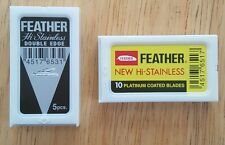 Feather Duo (8) Double Edge Safety Razor Blades Japan
