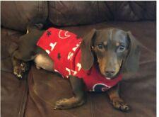 """Handmade Fleece Texans 13"""" Dog Sweater (S/xs) for a Dachshund puppy (2-3months)"""