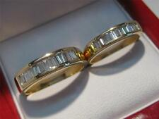 18KT SOLID GOLD 1.5 CARAT DIAMOND MENS & LADIES WEDDING BAND SET