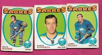 1971-72 OPC SABRES MICKEY + ATKINSON RC + BARRIE RC CARD  (INV# C2519)
