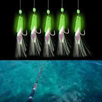 5pcs /bag neues leuchten in der dunklen leuchtenden Fisch-Fischerei-Köder-H F4M0